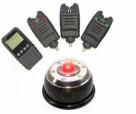 Набор электронных сигнализаторов поклевки с пейджером Hoxwell HL71ML (3+1) с лампой