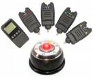 Набор электронных сигнализаторов поклевки с пейджером Hoxwell HL72ML (4+1) с лампой