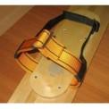 Крепления для лыж синтетическое с брезентовым задником 45 мм пряжка