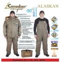 Комплект зимний - 50 градусов ( Комплект рыболовный зимний ALASKAN (куртка  пуховая, брюки утеплитель норон) + Термобелье Norfin WINTER LINE + Костюм флисовый Norfin POLAR LINE 2 GRAY )