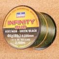 Монолеска DAIWA INFINITY DUO BLACK GREEN 0.235