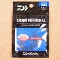 Крючки офсетные DAIWA BASSER'S WORM HOOK SS SOS#2/05443